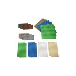 Pagrindų plokštelės LEGO mažų matmenų